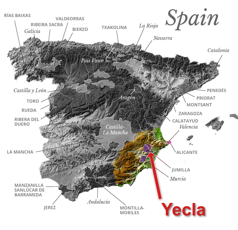 Map Of Yecla Spain.Bodegas Castano 2016 Alcaria Old Vine Red Blend Yecla Spain