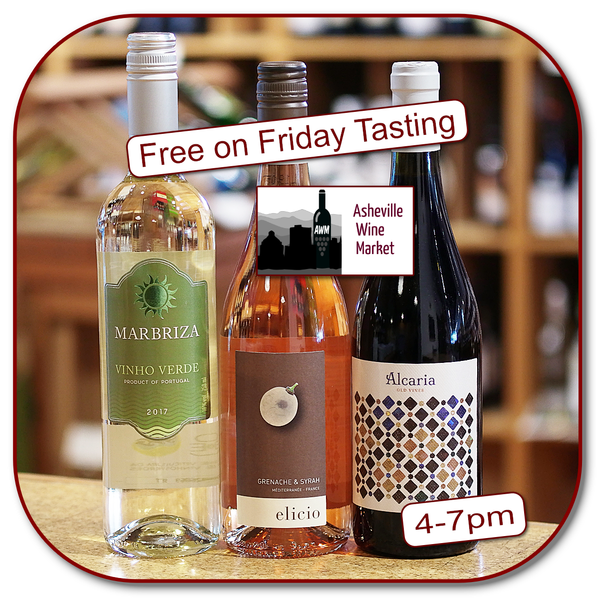 Taste 3 for free today 4-7pm