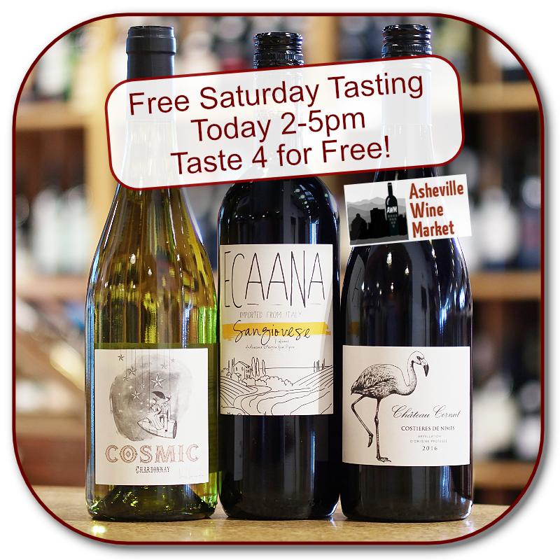 Taste three for free this afternoon from 2-5 pm
